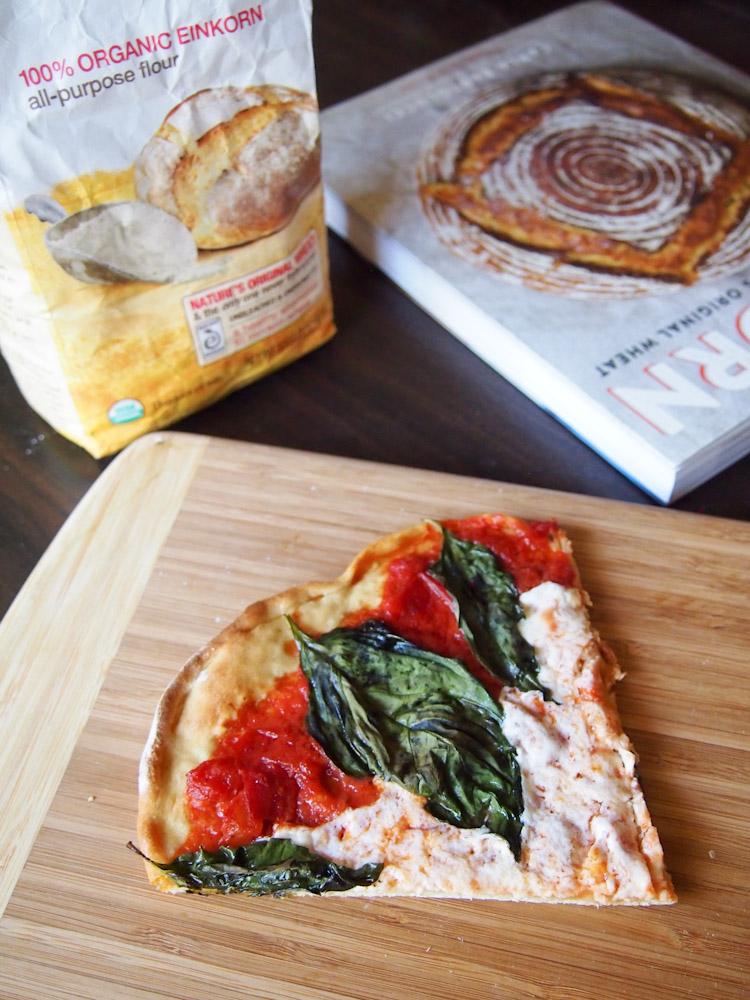 Einkorn Neapolitan Pizza Margherita | vermilionroots.com