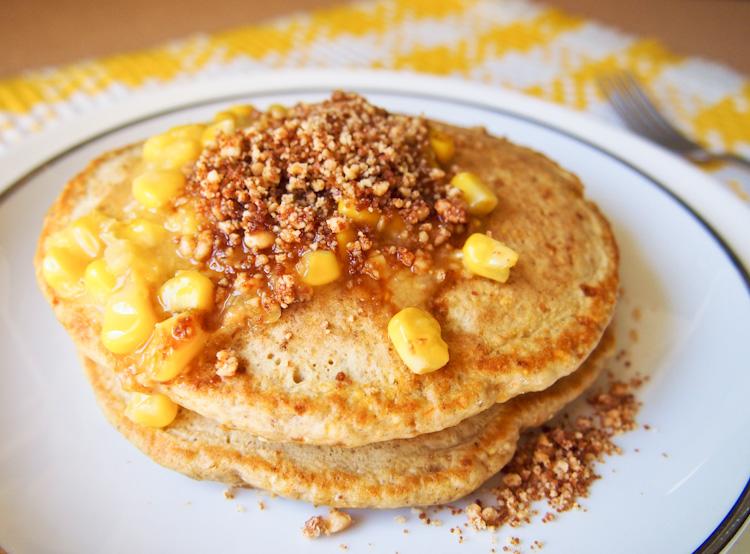 Corn Pancakes +Apam Balik Toppings
