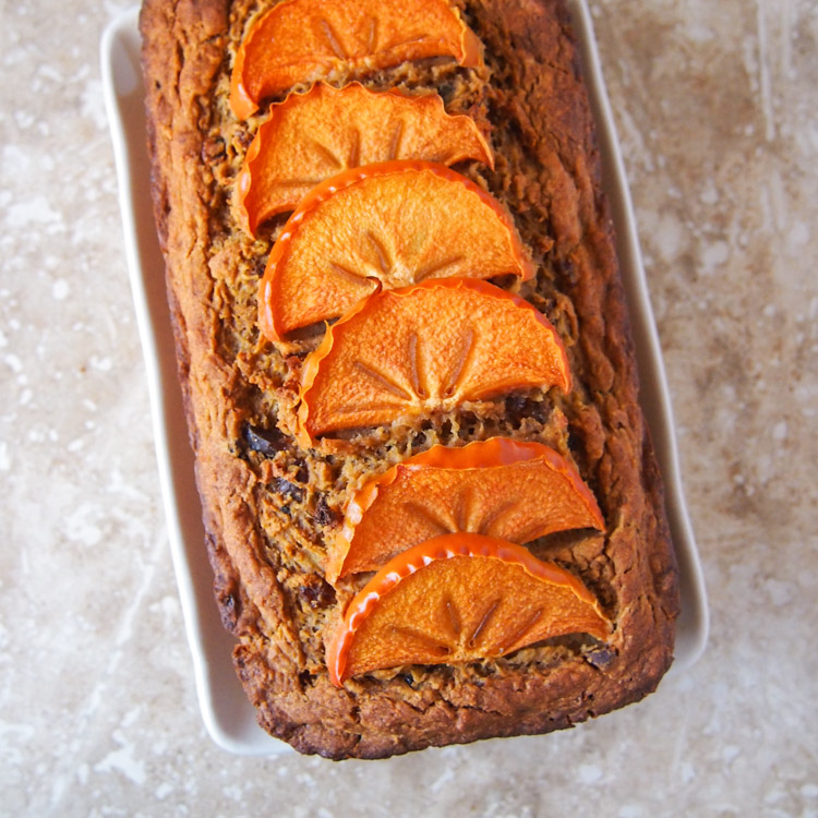 Fresh Fruit Whole Wheat Loaf Cake (Refined Sugar-Free) | vermilionroots.com. This easy and tasty cake gets its natural, fruity sweetness from banana, apple, pear, persimmon and raisins.