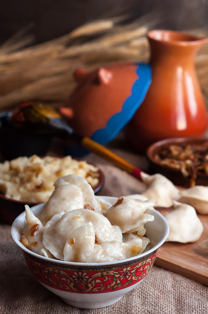 Sweet or savory dumplings for breakfast in Ukraine