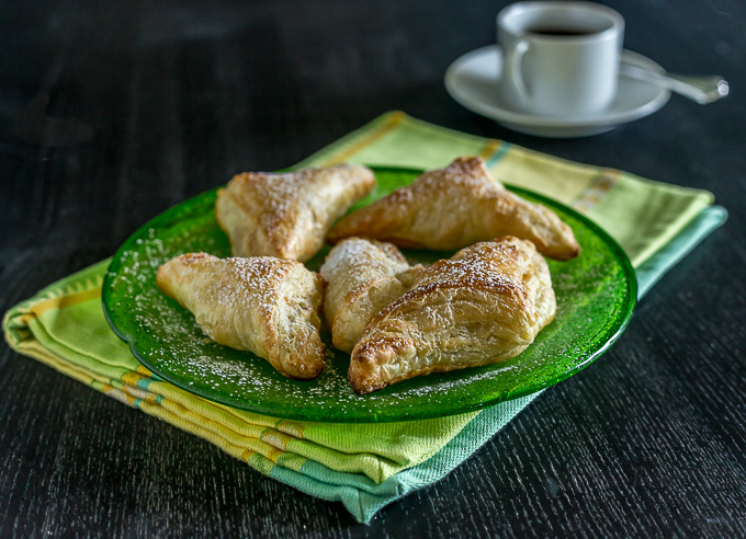 Puff pastry with cream cheese and guava paste for breakfast in Latin America
