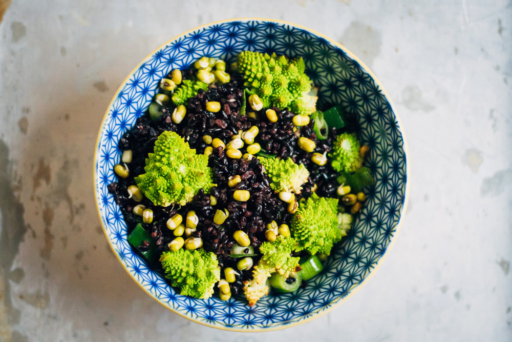 Black Rice + Romanesco Bowl