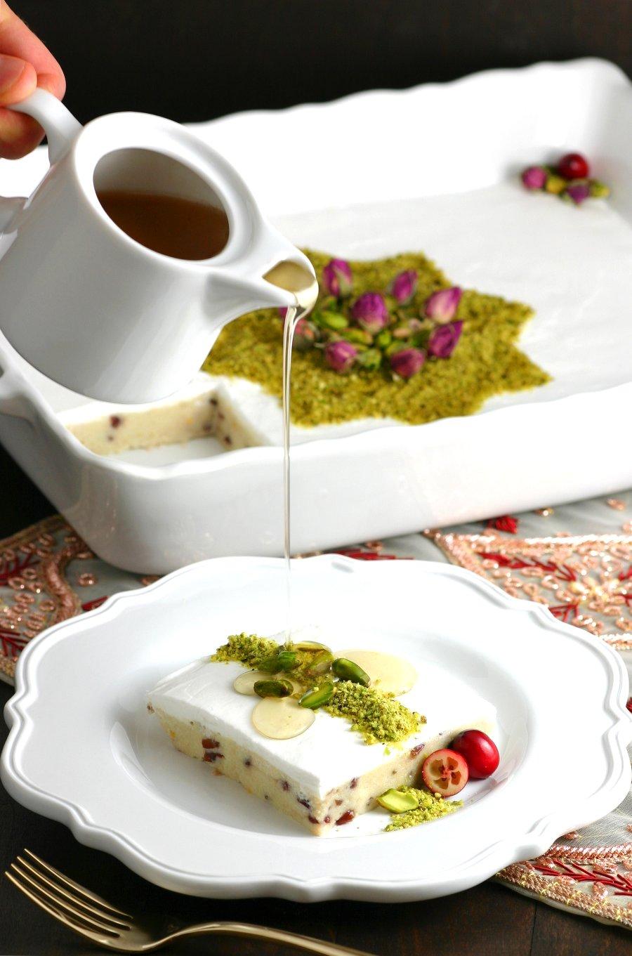 Lebanese Semolina Pudding
