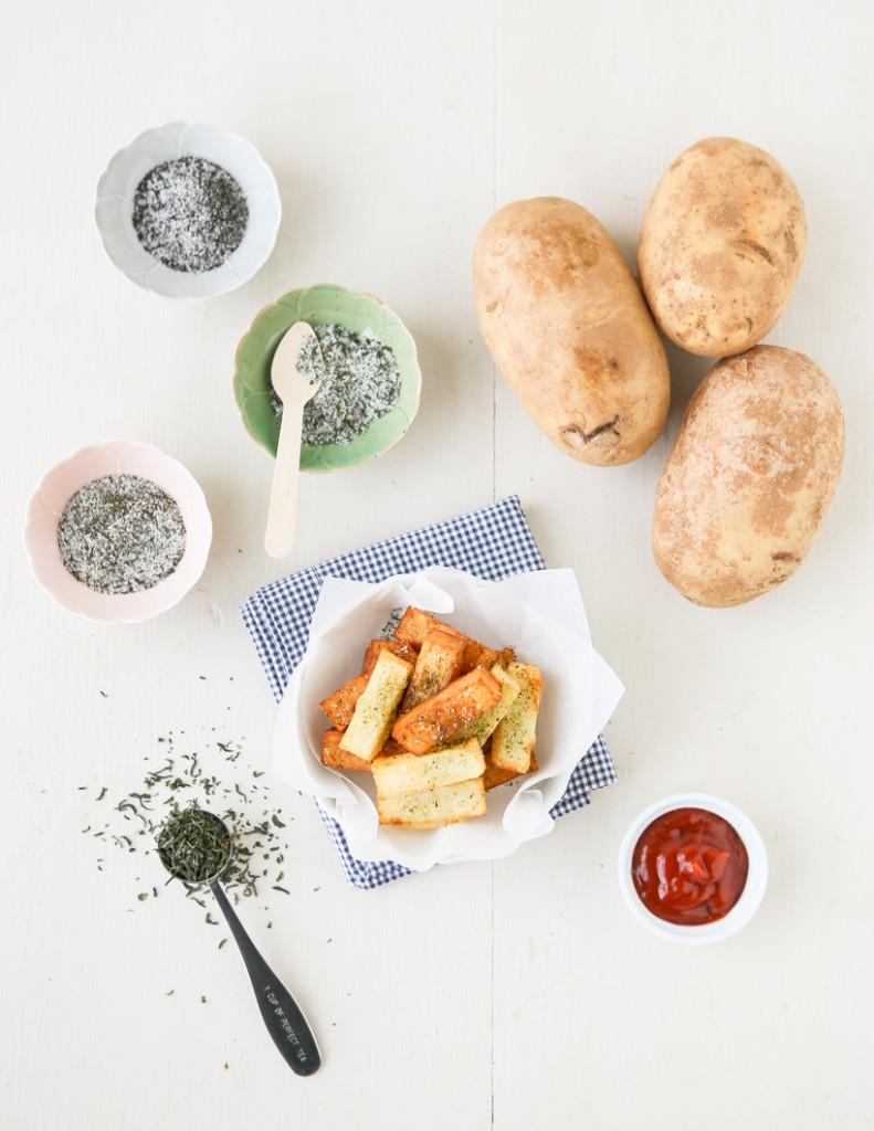 Pont Neuf Potatoes with Tea Salt