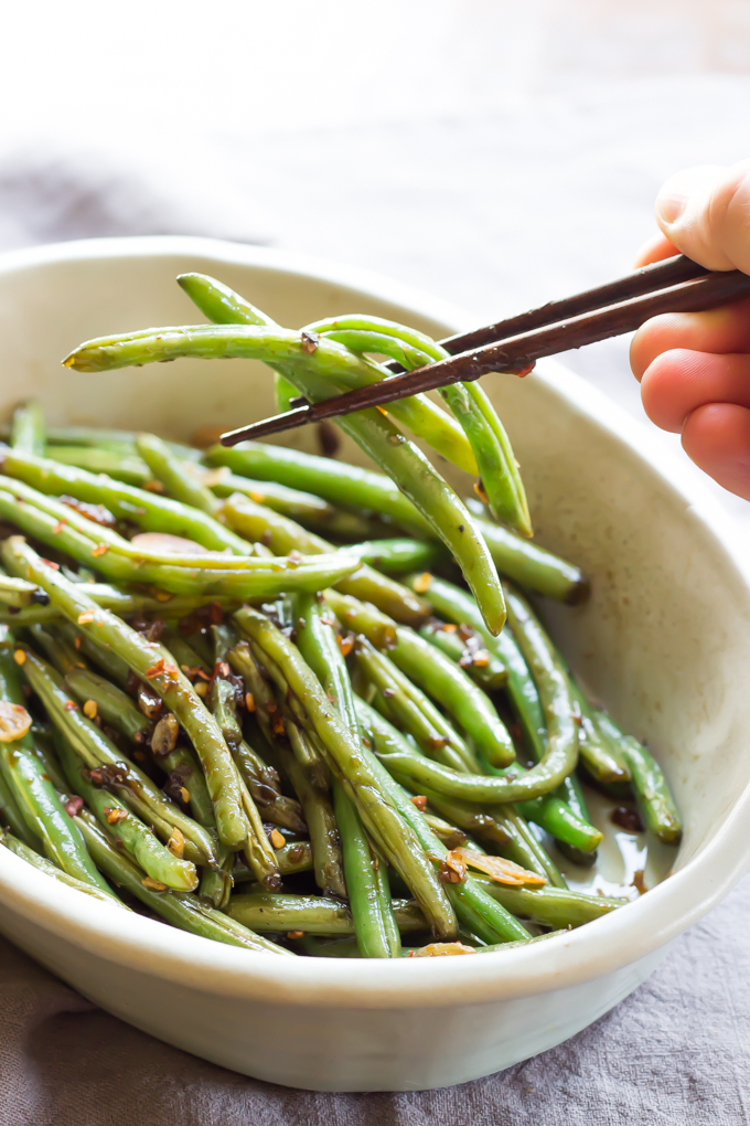 Asian Green Beans by Wicked Spatula