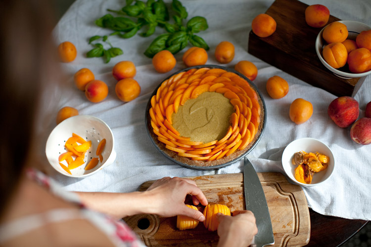 Apricot Basil Tart