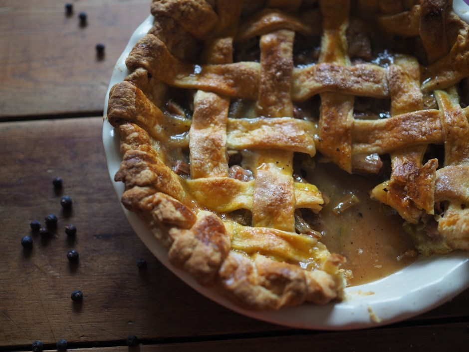 Rhubarb and Juniper Pie