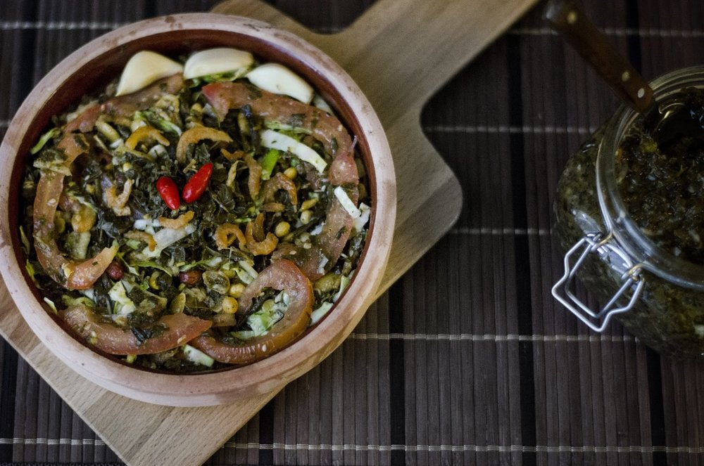 Pickled Tea Leaf Salad (Laphet Thote)