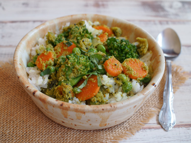 South Indian Coconut Vegetable Curry Vermilion Roots