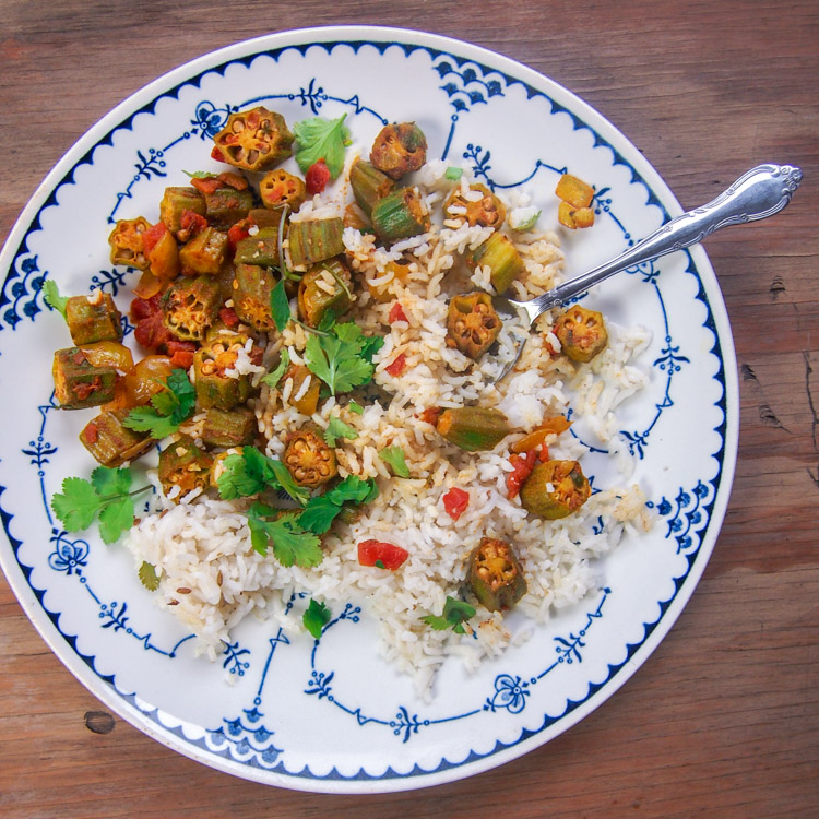 Indian spiced okra with kenyan coconut rice celebrating diversity lately ive been making foods that ive never had before allowing books like shane mitchells far afield rare food encounters from around the world to forumfinder Choice Image