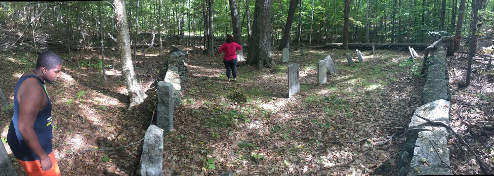 Exploring cemeteries for research...