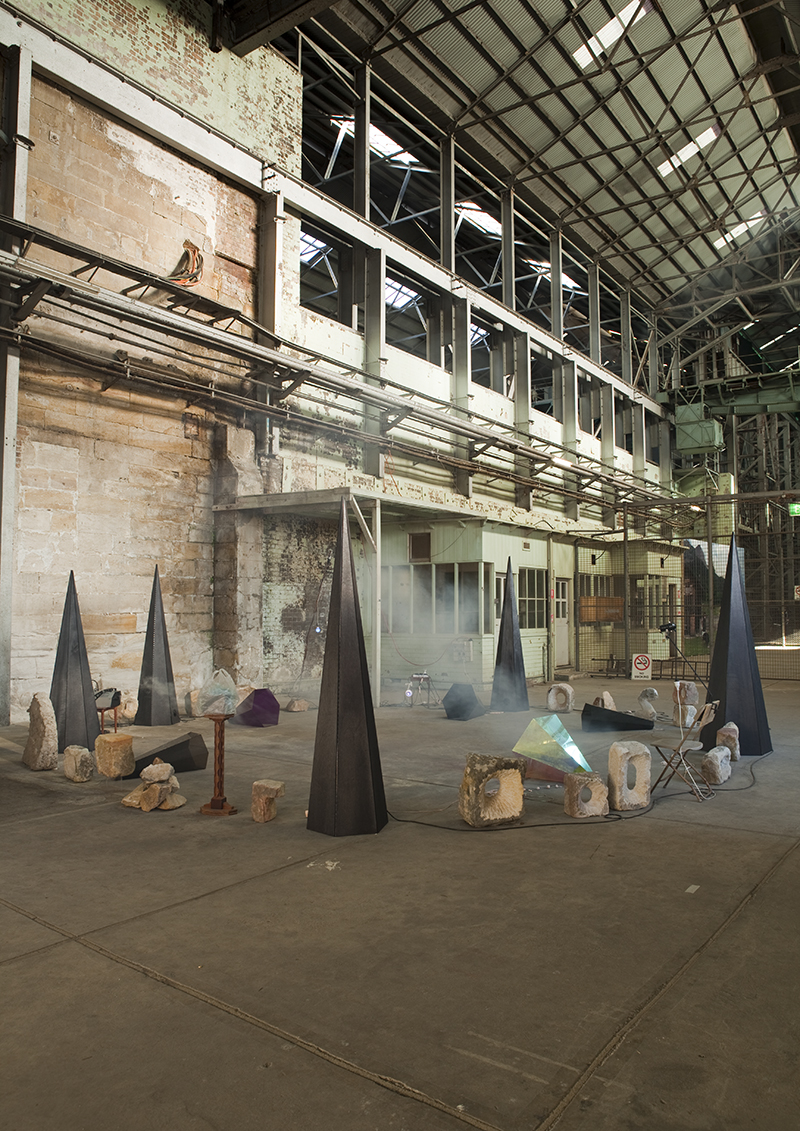 Mikala Dwyer - An Apparition of a Subtraction, 2010 in the 17th Biennale of Sydney, curated by David Elliot, Cockatoo Island, Sydney