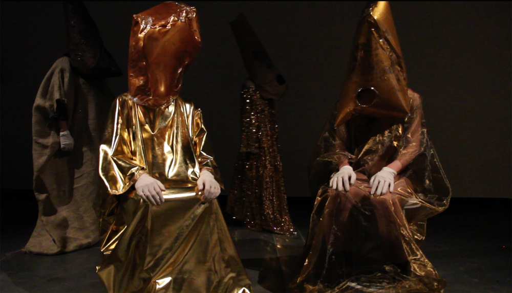Performance still: Mikala Dwyer - Goldene Bend'er, 2013, Australian Centre for Contemporary Art, Melbourne