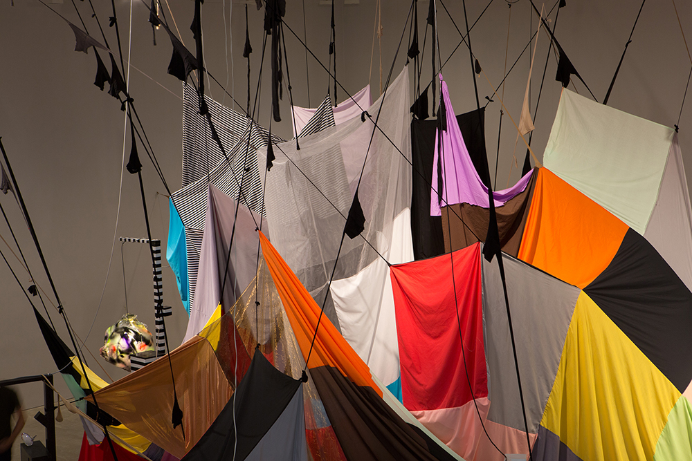 Mikala Dwyer - Square Cloud Compound in Mikala Dwyer: MCA Collection, 2015-2016, curated by Natasha Bullock, Museum of Contemporary Art, Sydney (photo: Jessica Maurer)