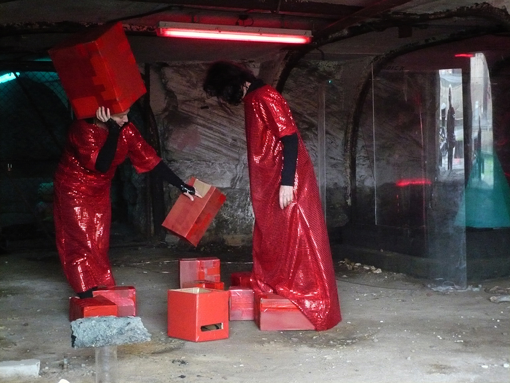 Mikala Dwyer and Justene Williams - Captain Thunderbolt's Sisters and Red Rockers, 2010, A.R.P Artist Residency Program, Cockatoo Island, Sydney