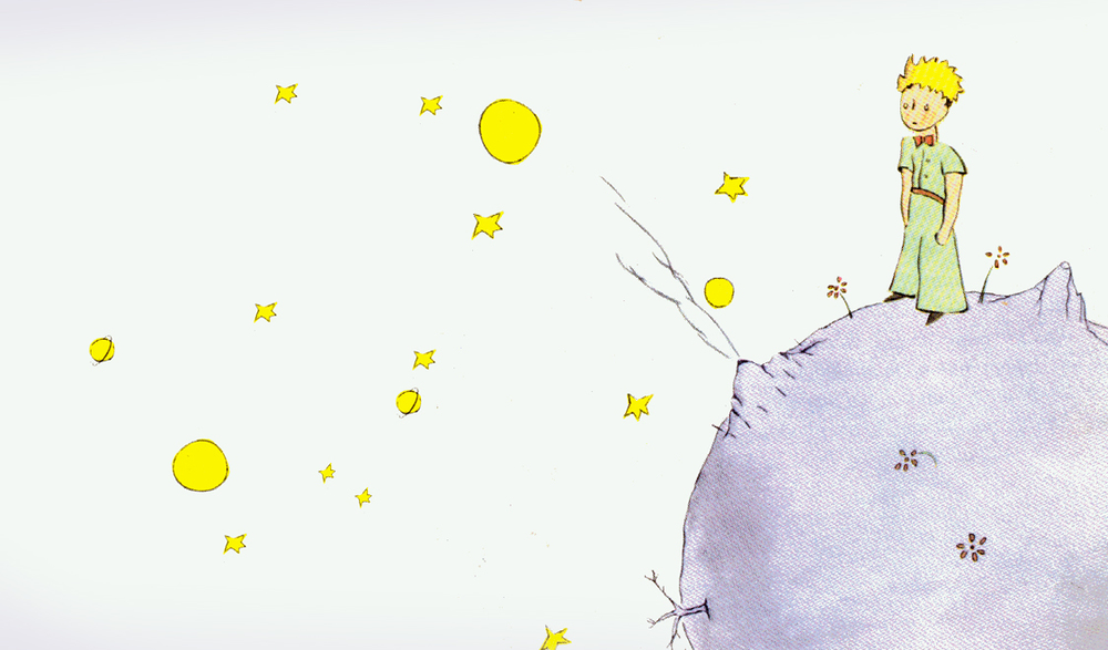 An illustration of The Little Prince in Saint-Exupéry's novella