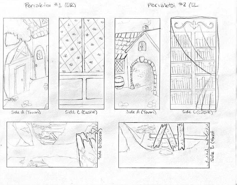 Final B&W sketch for periaktoi facings