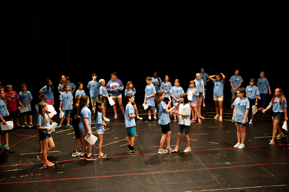 Our Group 4 campers rehearse their play