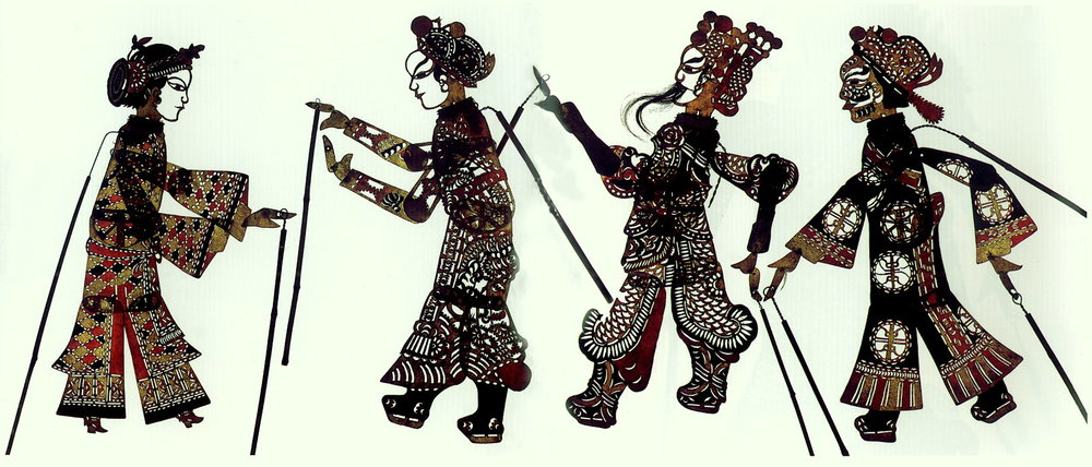 Pekingese shadow puppets