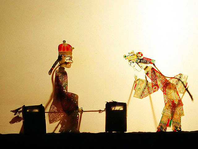 Shadow puppets in performance