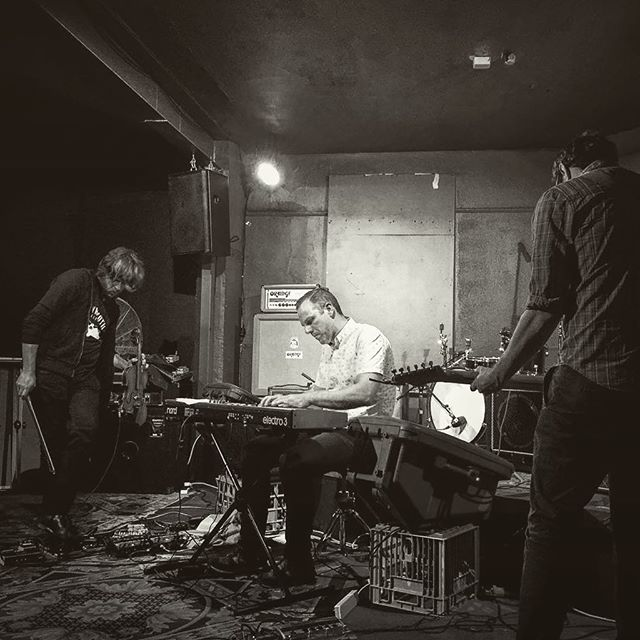 @slowdissolveband in action a couple of weeks back at @thetotehotel .... next show Sunday April 30th at #baropenfitzroy with @stillmovementmusic and Ladie Dee of @h_a_t_m_snaps  Photo by @amperzand #musicvictoria #slowdissolve #instrumentalmusic #thetote #baropen #postrock #violin #guitar #piano