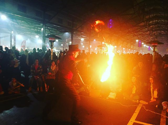 #fire at the #winternightmarket - @vicmarket