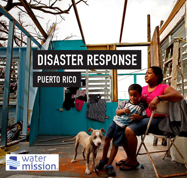 WATER MISSION AID IN PUERTO RICO – Water Mission ramping up their response in Puerto Rico as the dire need is being fully realized and the number of requests for help is growing. Water Mission has started deploying staff and equipment capable of providing 60,000 people with safe water every day. Please join us in praying for the people of Puerto Rico and for Water Mission's staff, partners, and resources to have the greatest possible impact. You can support their disaster relief efforts by visiting watermission.org/puerto-rico today and your gift will be matched by a donor, increasing the impact of your generosity.