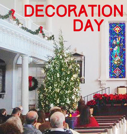 Come for a breakfast put on by the Men's Society on Saturday, December 2nd at 9am and then help decorate the tree and Sanctuary for the Advent season.