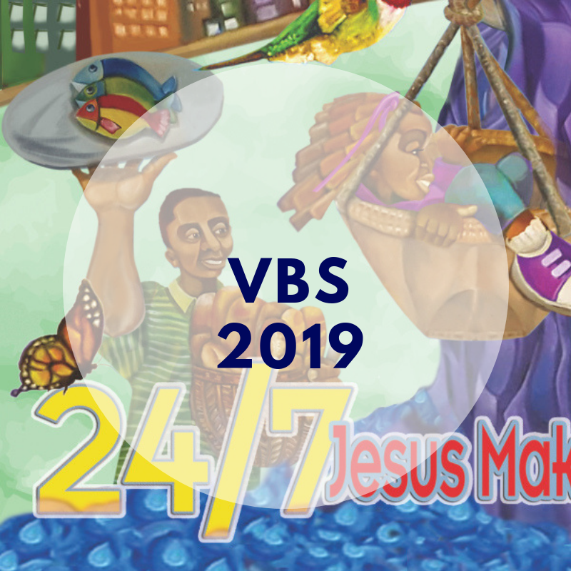 Save the date for VBS!   Community Vacation Bible School  June 23-27, 2019