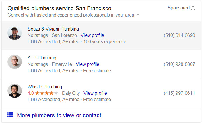 plumming adwords