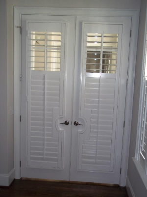Plantation shutter with a ider rail.PNG & Plantation Shutters designed for Doors and Sidelights \u2014 Heritage ... Pezcame.Com