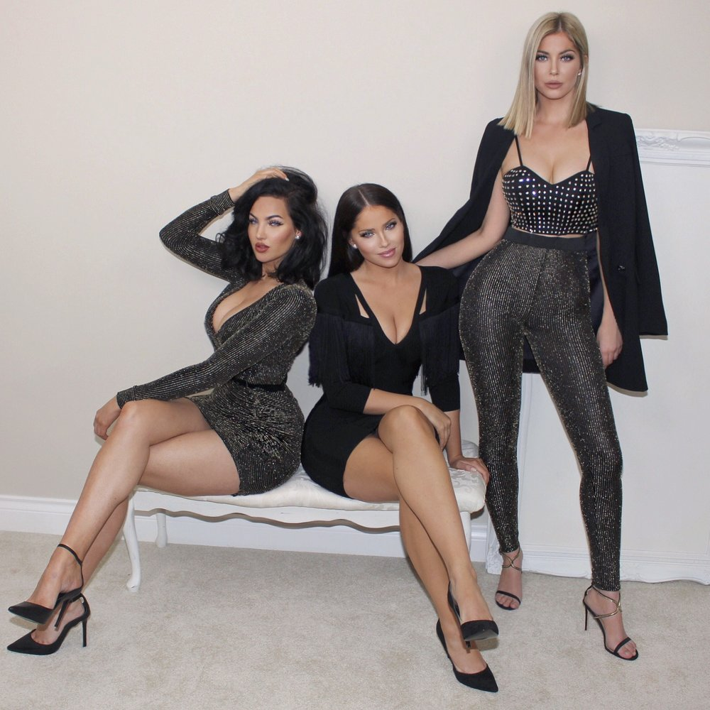 Natalie, Olivia and Sophia are head to toe in Marciano FALL/WINTER collection.