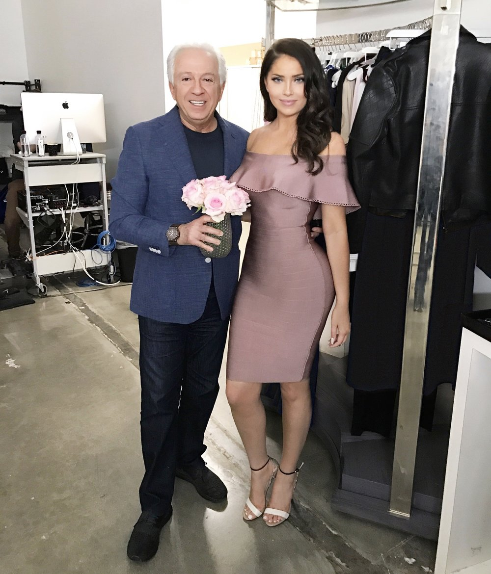 Paul Marciano visiting us on set of our Marciano shoot.