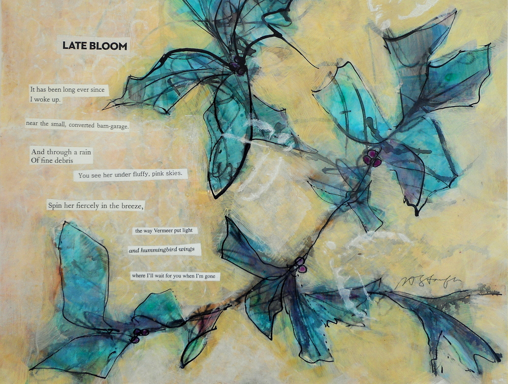 acrylic poem collage