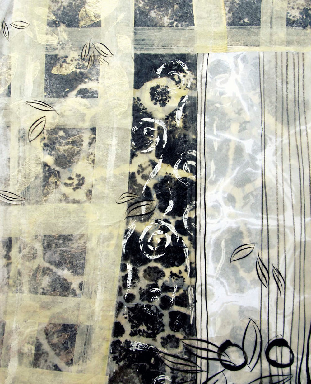 encaustic monotype collage