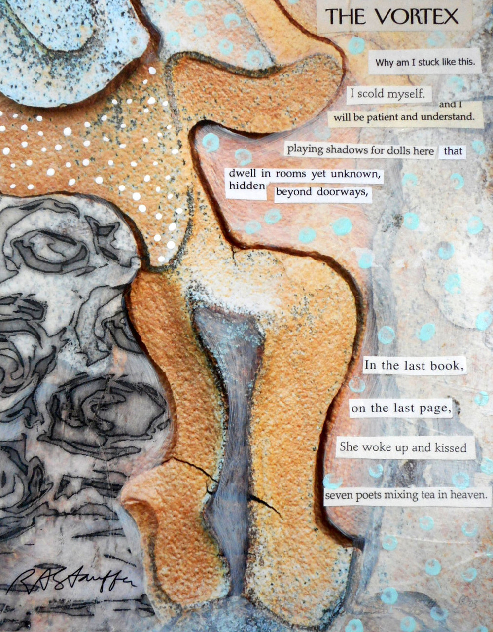 acrylic collage poem