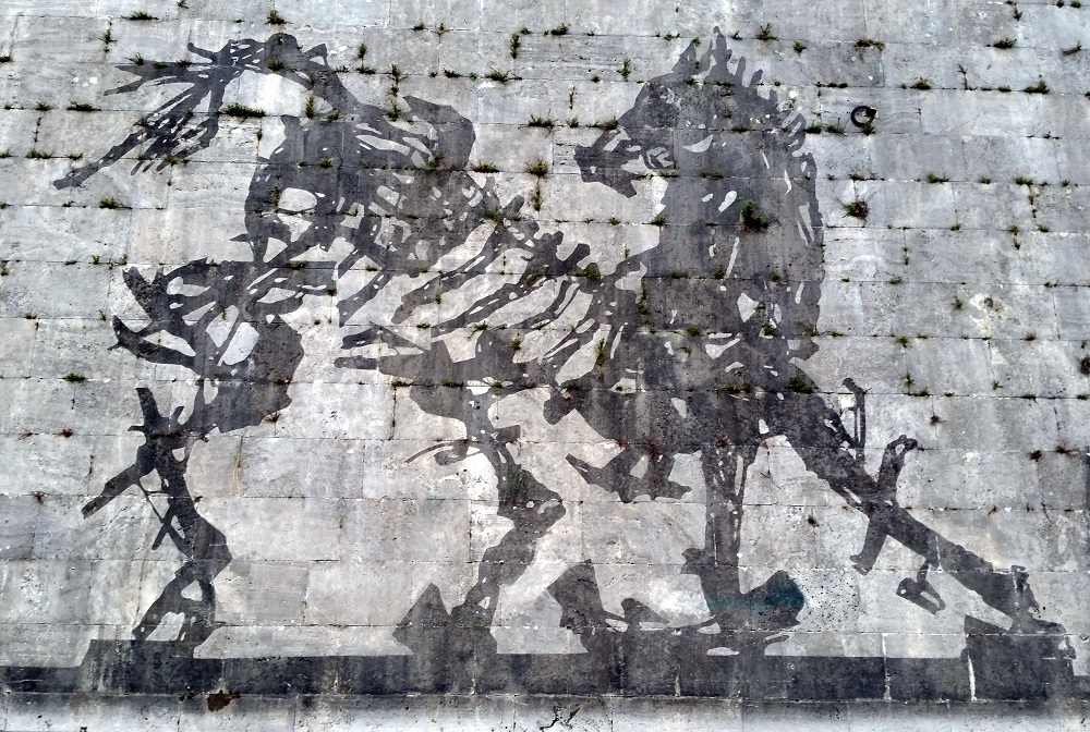 William Kentridge mural in Rome