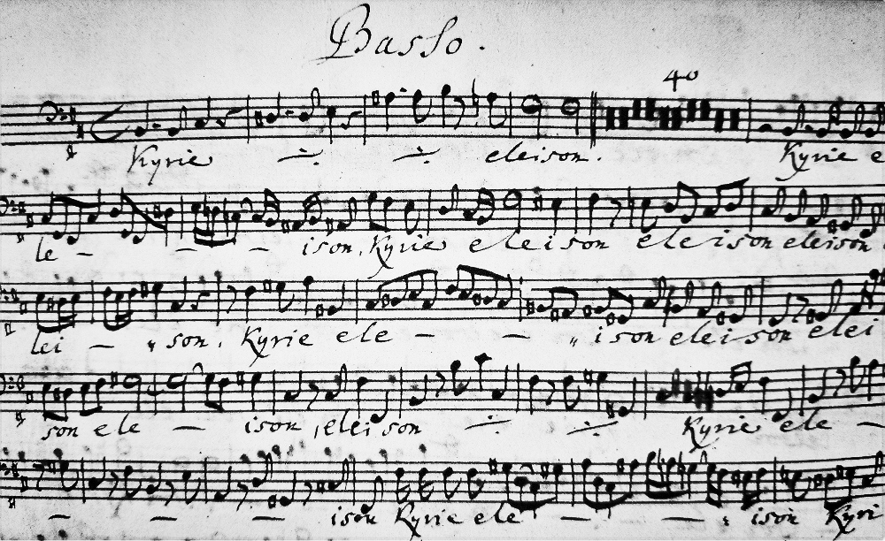 J.S.Bach manuscript from Leipzig Bach Museum