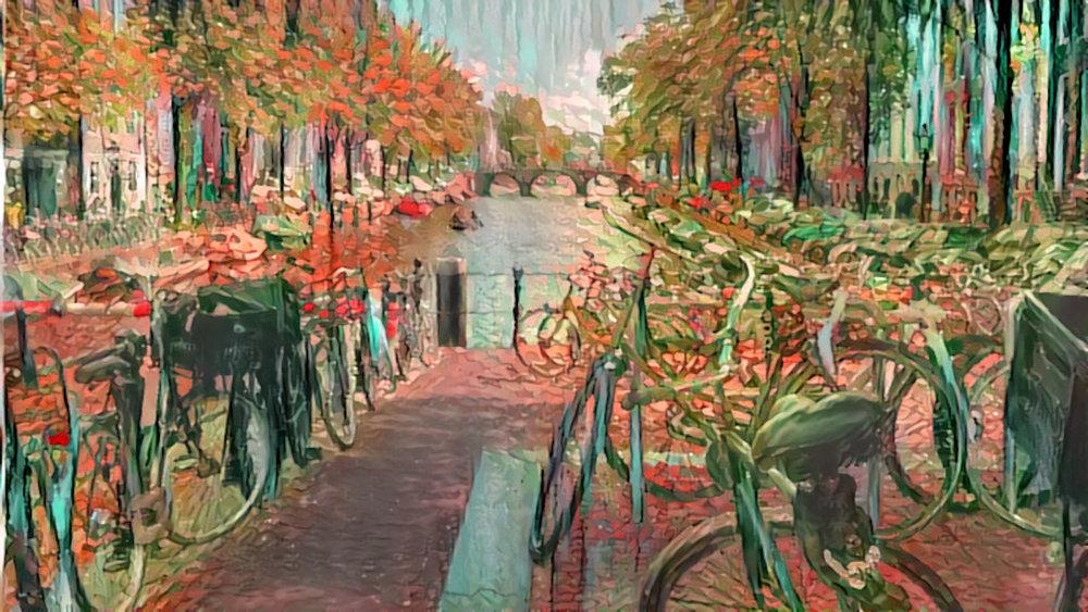 Amsterdam bicycles x Van Gogh