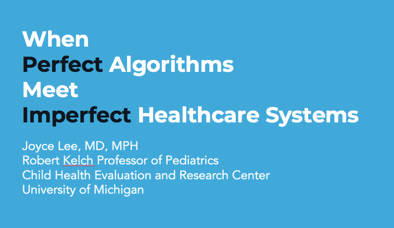 My talk at the 2018 Machine Learning for Healthcare Conference