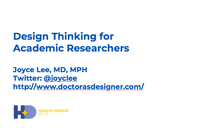 My talk at a Design Health Symposium at the Pediatric Academic Societies Meeting