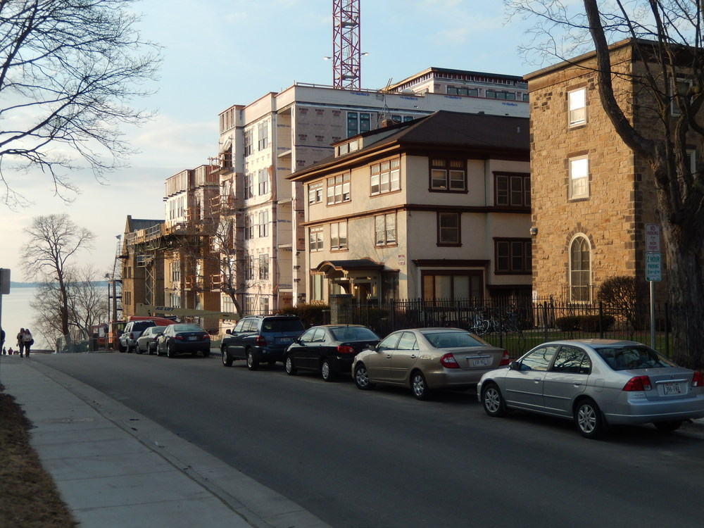 A new residential development being built (2014) in the Langdon Street Historic District.