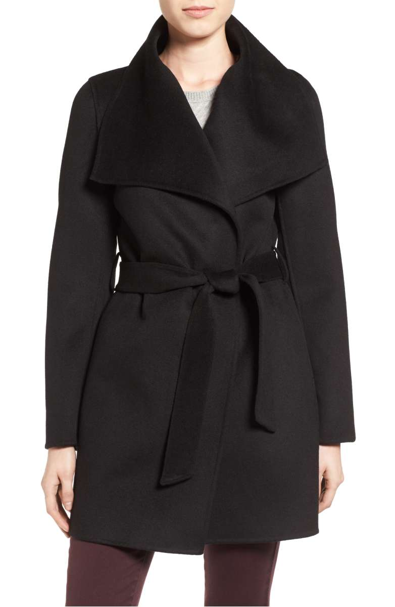 Sale:$149.90 - Tahari Belted Wool Blend Coat