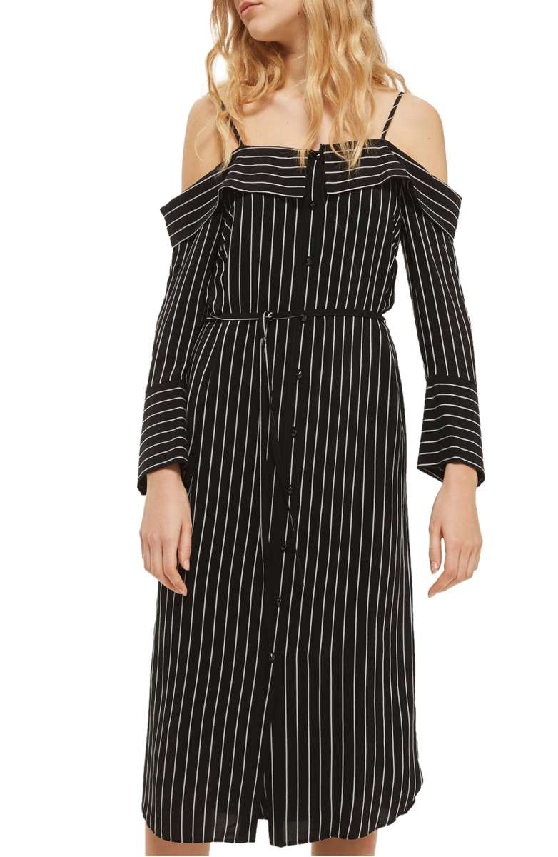 Sale: $63.90 - Topshop pinstripe midi shirtdress