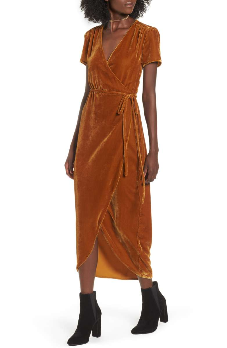 Sale: $78.90 - Next To You velvet wrap dress