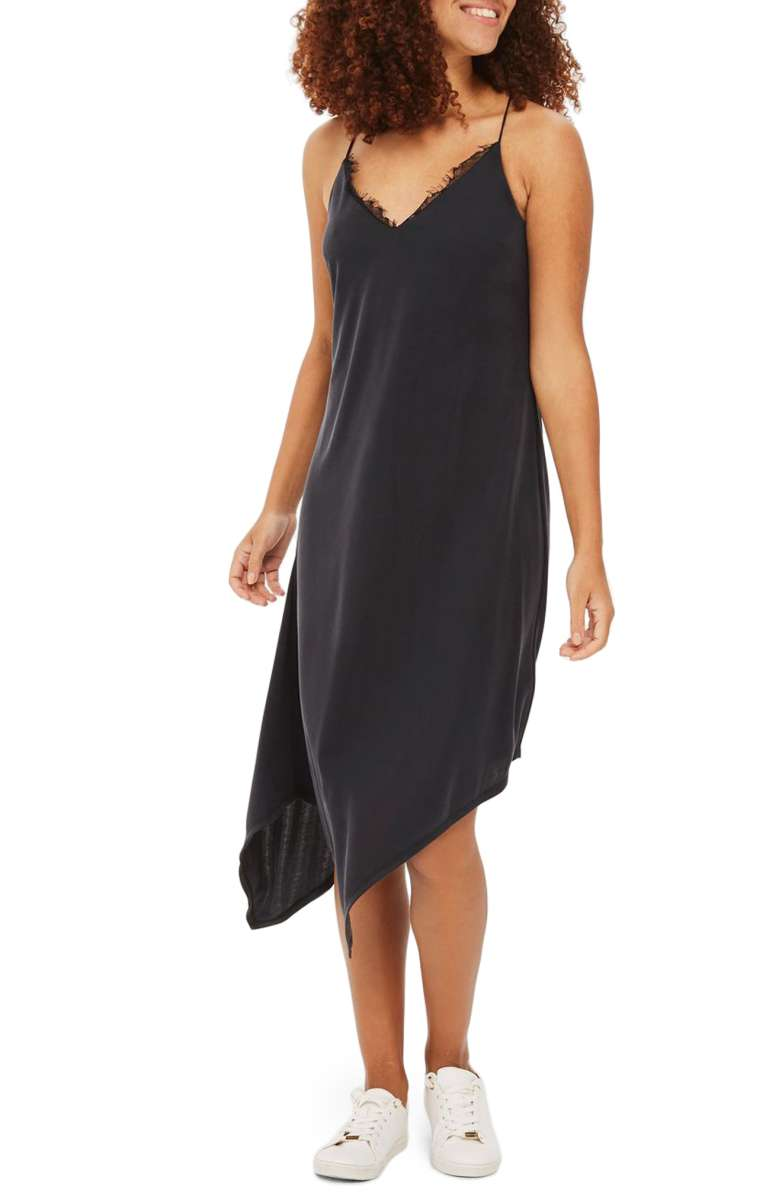 Sale: $35.90 - Topshop Asymmetrical Slipdress