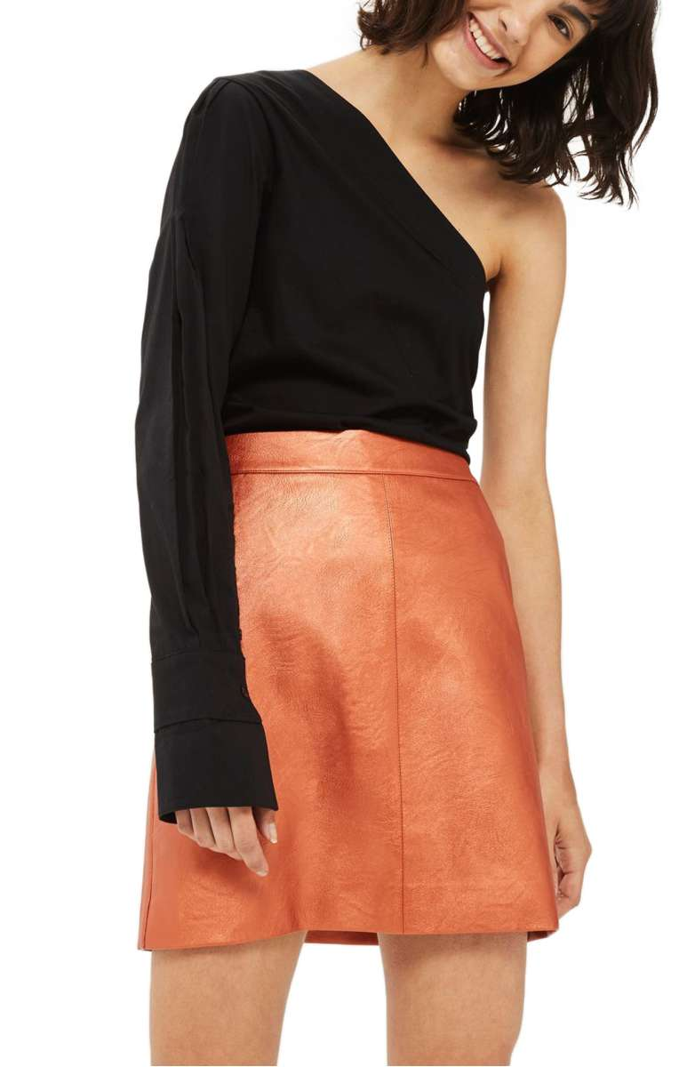 sale: $39.90 - Faux Leather Skirt Topshop