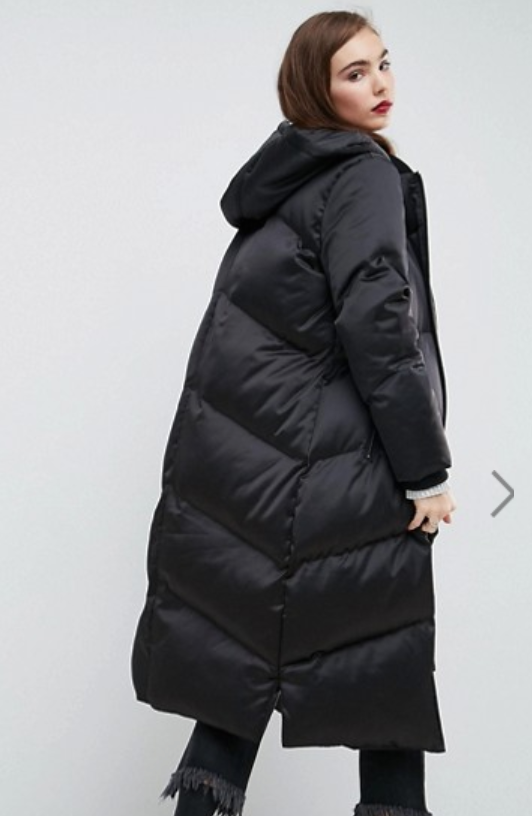 Longline Puffer Coat - $61.50