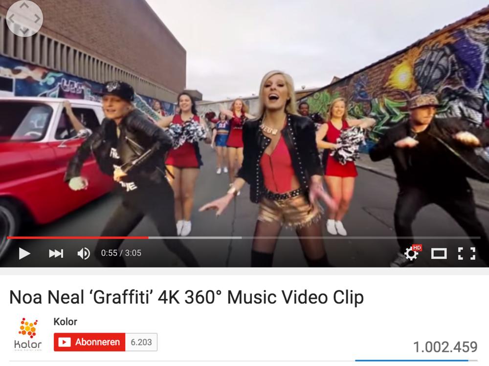 360 videoclip Graffiti - wereldprimeur