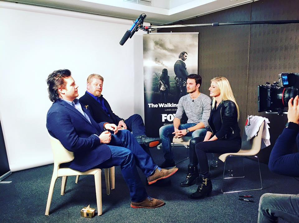 The Walking Dead cast interview FOX
